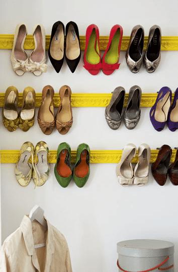 molduras para ordenar los zapatos
