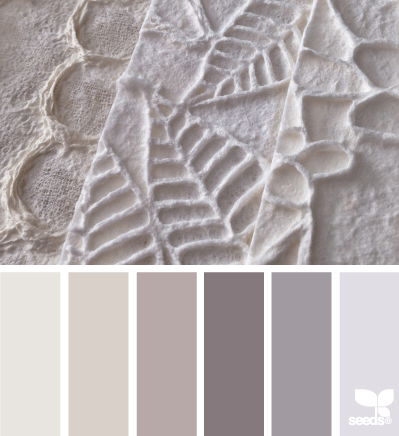 palette of broken white and gray colors