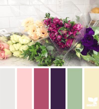 paleta de colores floral