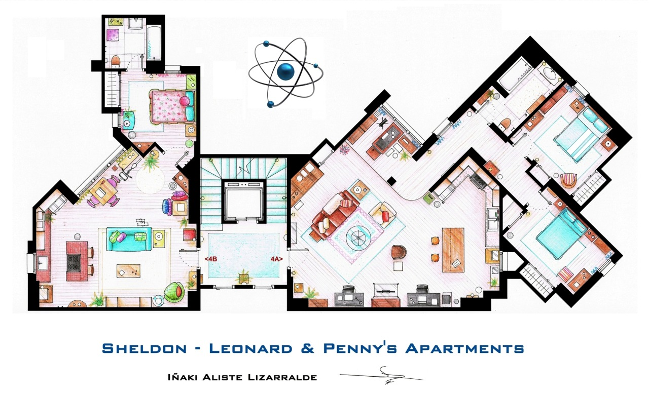 El apartamento de The Big Bang Theory