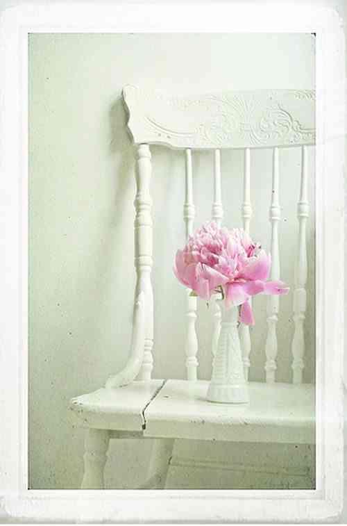 silla pintada de blanco