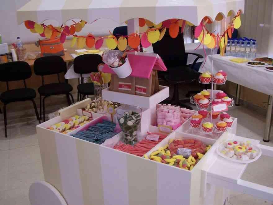 C mo preparar un carrito de gominolas para un bautizo for Ideas para mesas de chuches