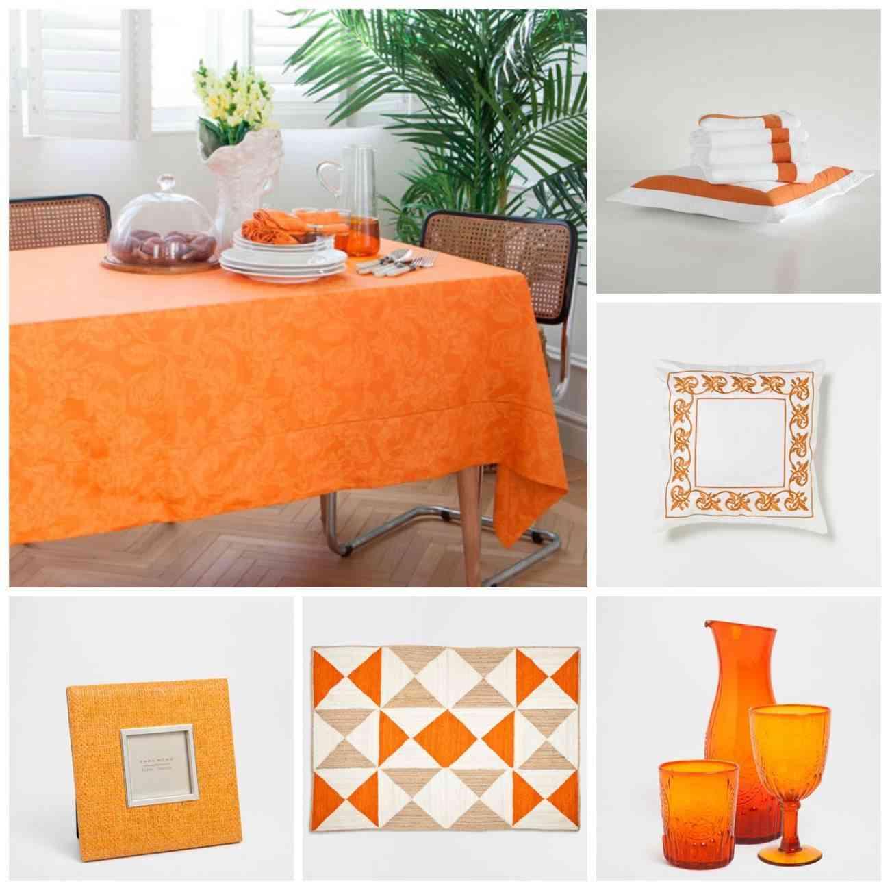 color calabaza - naranja - zara home - primavera verano 2015
