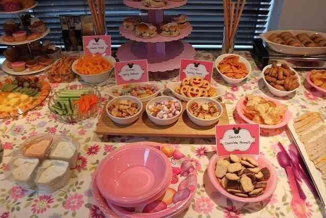 mesa de dulces para fiesta de cumpleaños