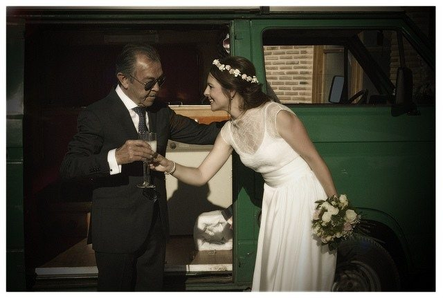 boda, novia y padre