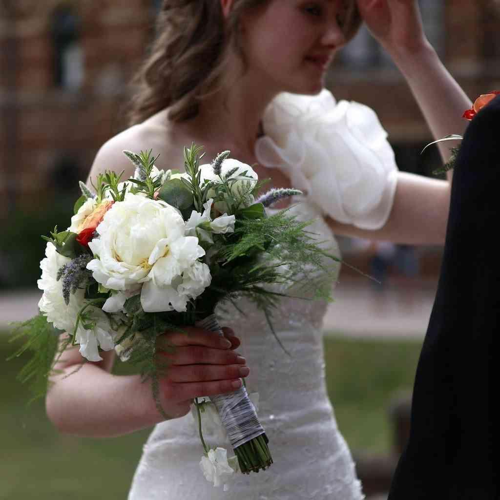 detalle ramo de novia
