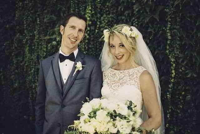 La mirada de los novios en su boda