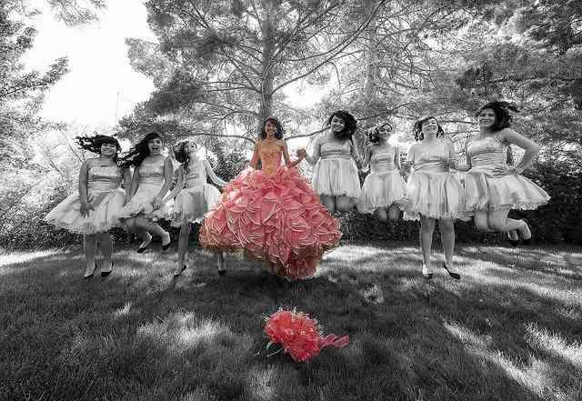 vestido rosa - fiesta de 15 años