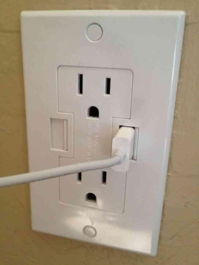 Enchufes de pared con USB