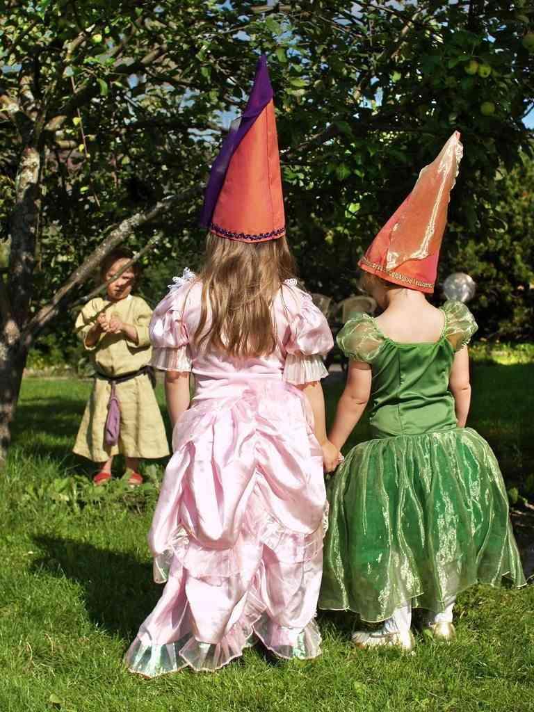 Disfrazadas de princesas