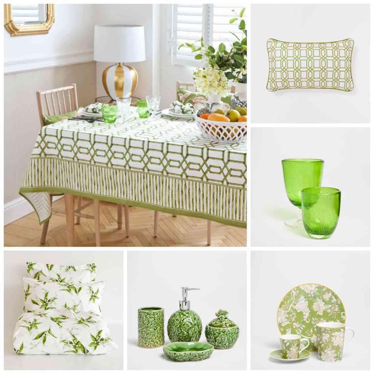 verde - zara home - primavera verano 2015