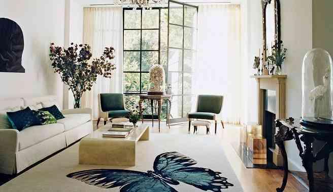 alfombra de mariposa