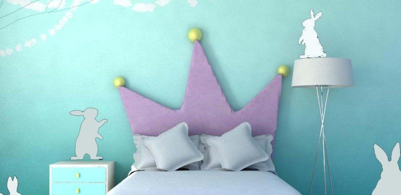 cabecero de cama princesa