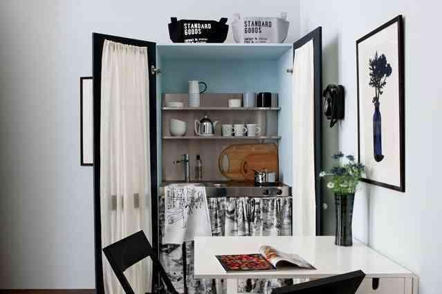 ¿Un armario como cocina?