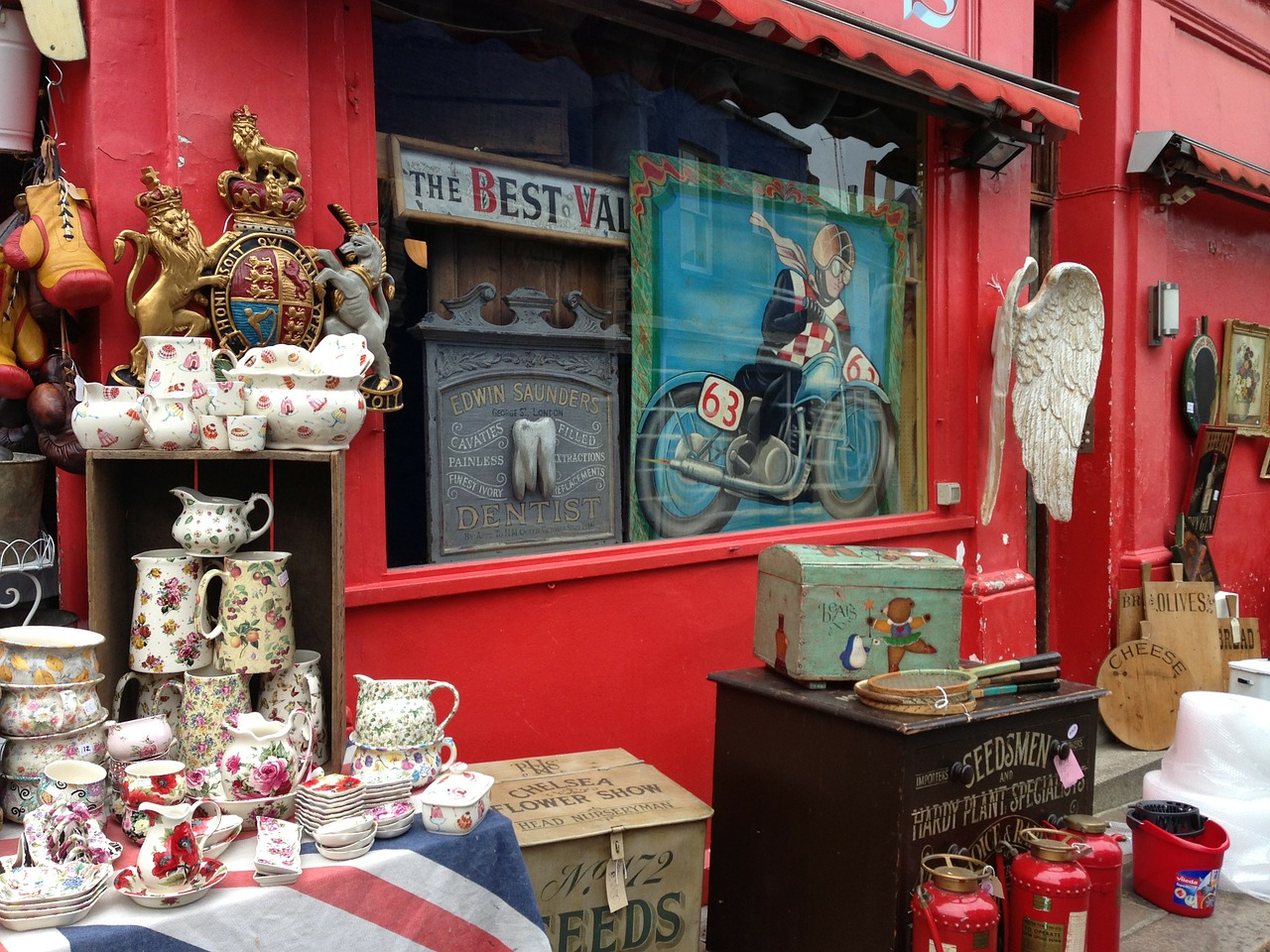tienda de antiguiedades Londres