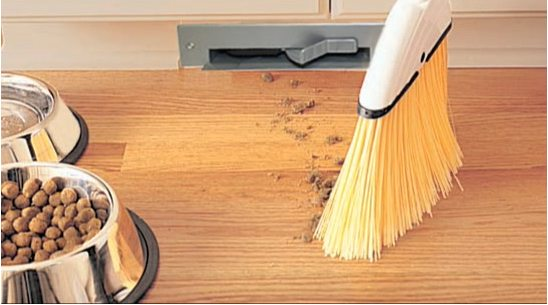 Vacuum cleaner integrated in our furniture to make it easy to clean