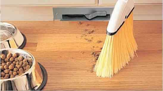 Aspirador integrado en nuestros muebles para hacer fácil limpiar