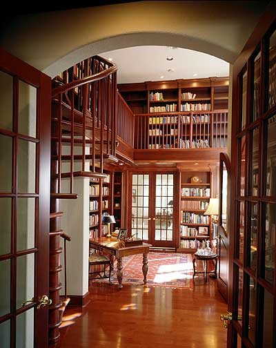 Impressive library in two heights