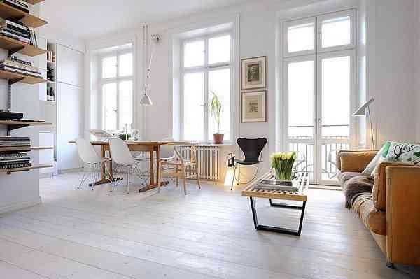 Apartamento blanco con detalles y mucha luz
