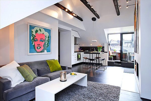 30 apartamentos peque os con mucho ingenio for Ideas para decorar apartamentos modernos