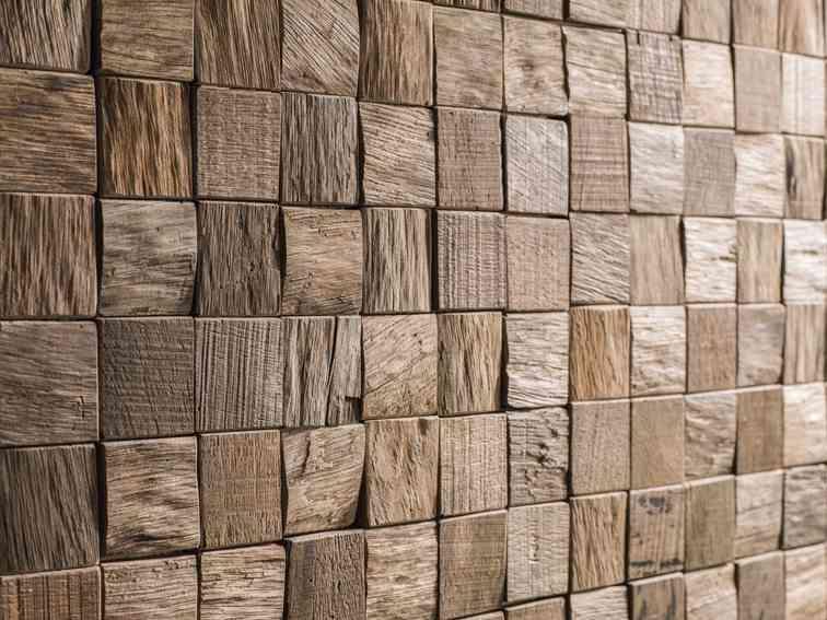 Revestimientos de madera para las paredes de l antic colonial - Mosaico de madera ...
