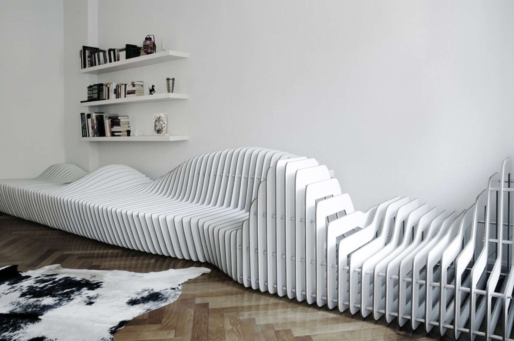 sofa extensible blanco