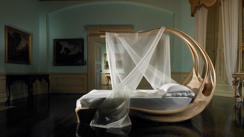 cama con dosel fuente