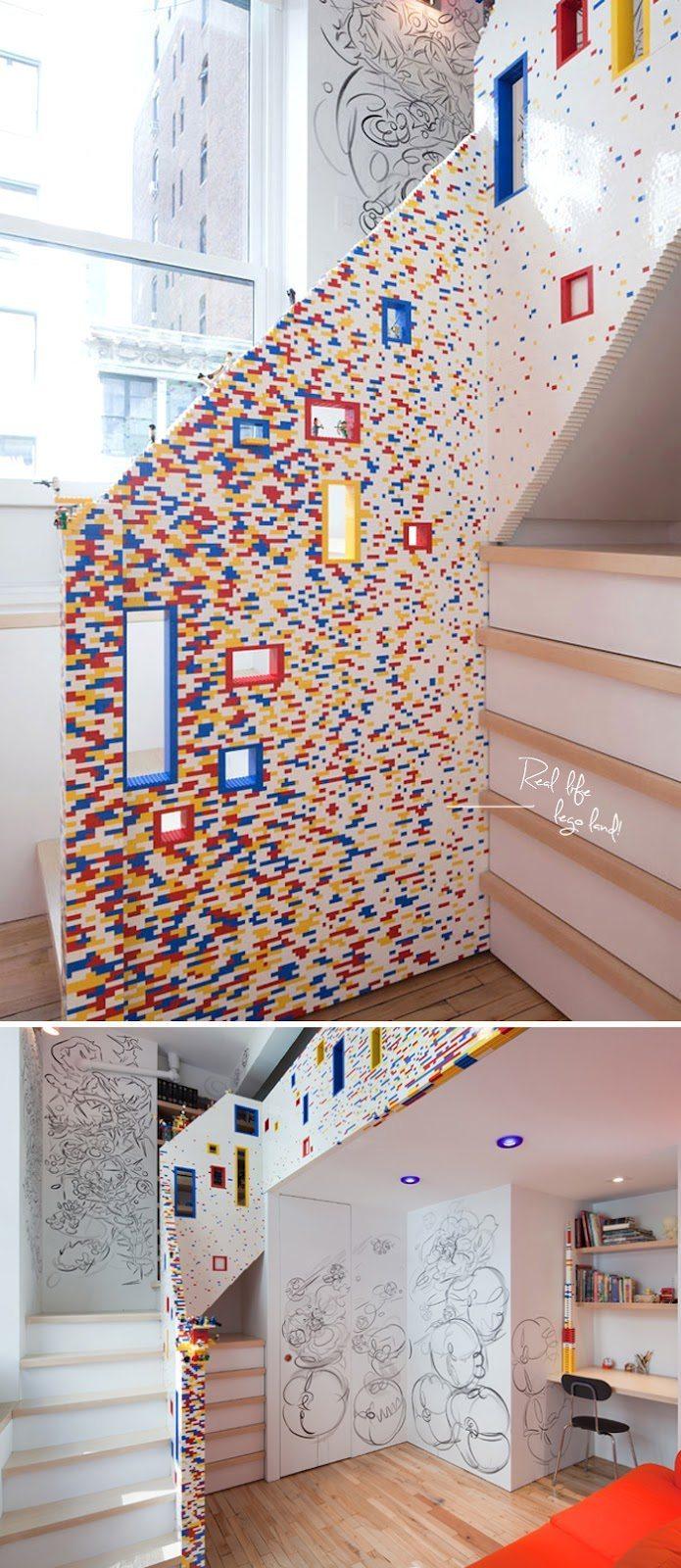 escalera de lego