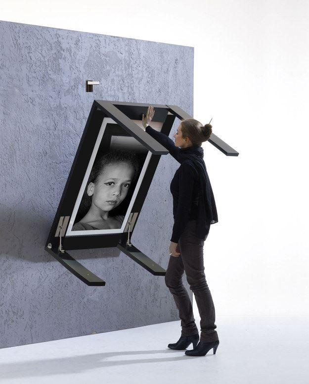 Mesa de comedor que se convierte en un cuadro de pared
