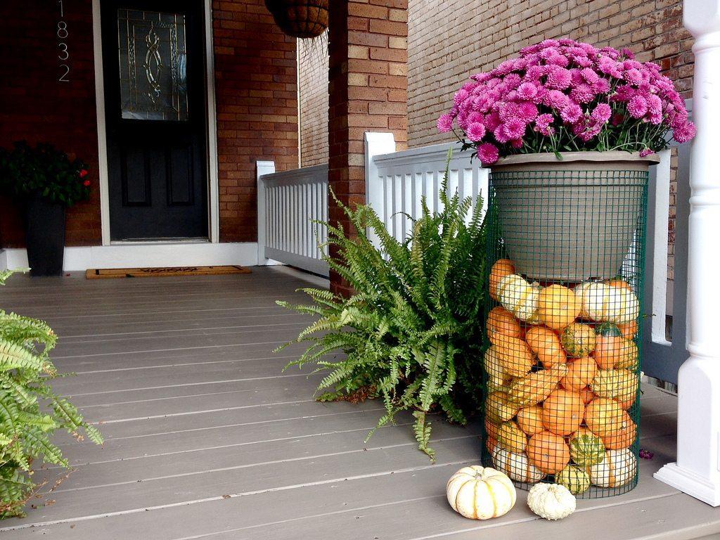 terraza solución para decoración exterior con maceteros