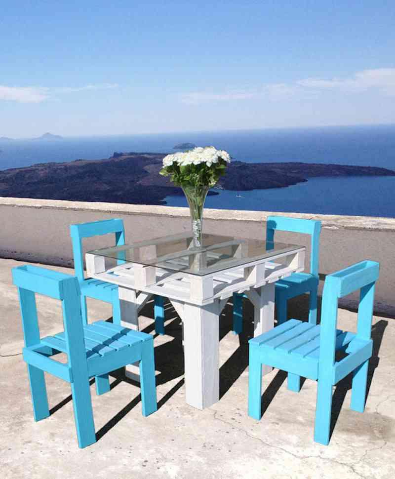 Muebles para exteriores DIY - Mesa y sillas con palets reciclados