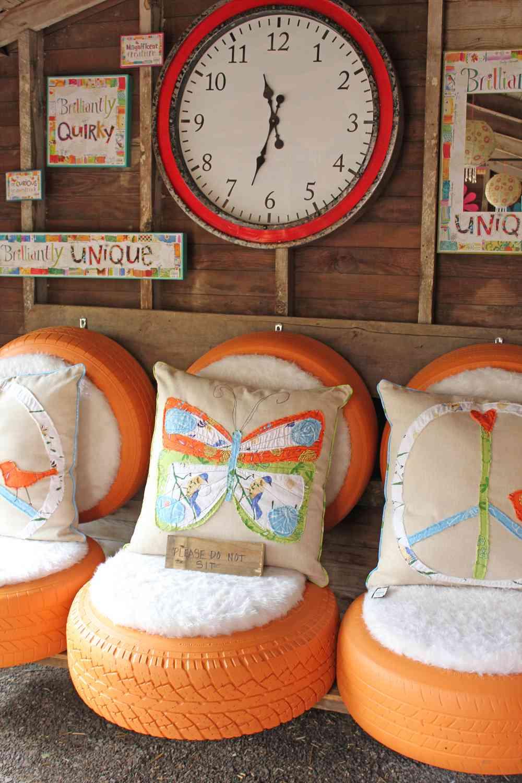 Muebles para exteriores DIY - Sillas con neumáticos reciclados