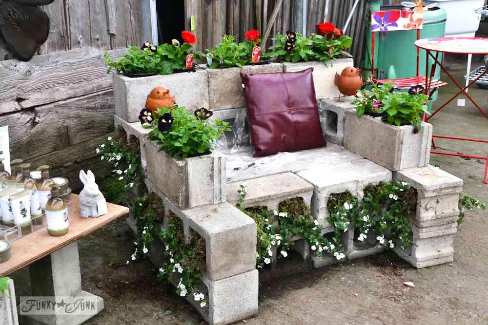 Muebles para exteriores DIY - Un sillón de bloques de hormigón