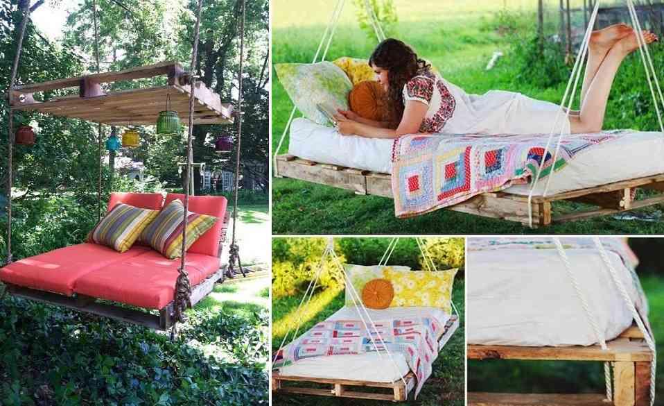 10 muebles para exteriores diy hazlos tu mismo for Hamacas para el jardin