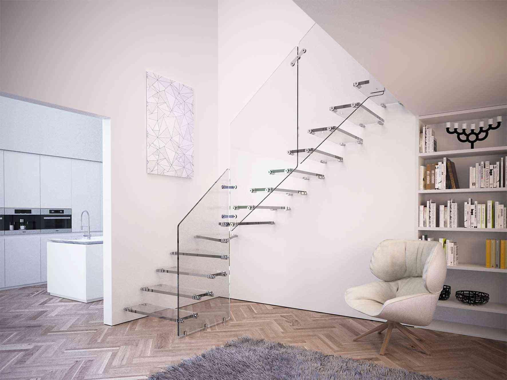 escaleras de cristal para la decoracin de interiores