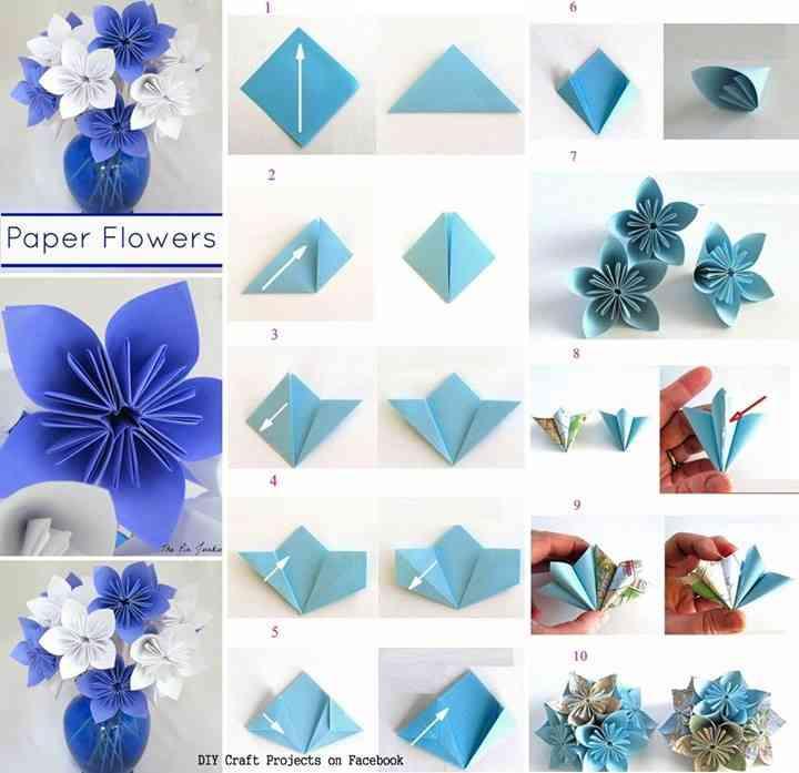 flores en origami