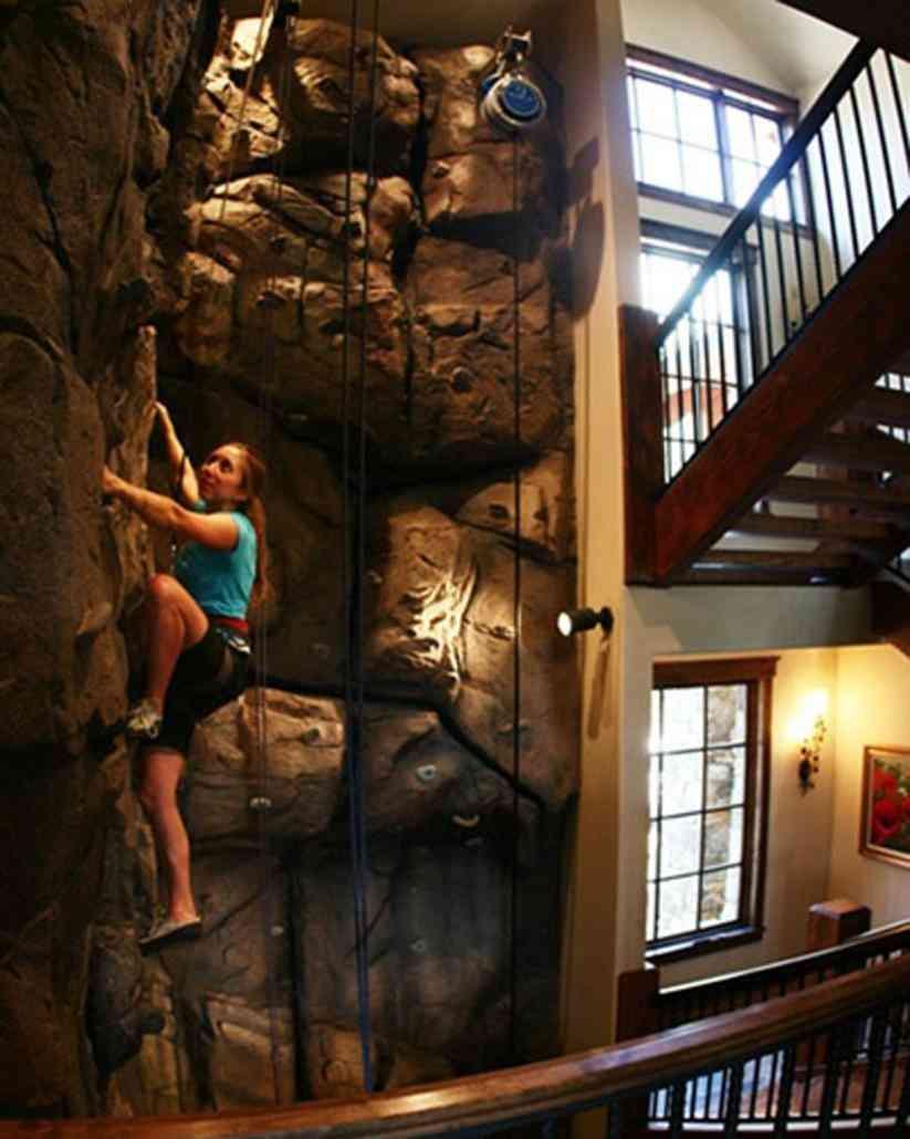 Un rocódromo en casa para practicar escalada