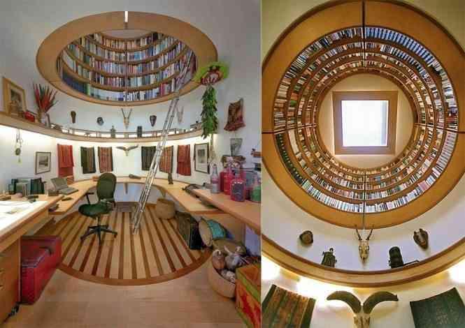 Impresionante librería con forma circular