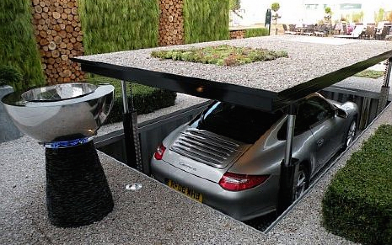 Un garaje bajo tierra para tu coche