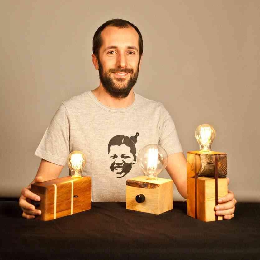Lamparas de madera deciclada - BRZwooDesign (Victor García) lamparas