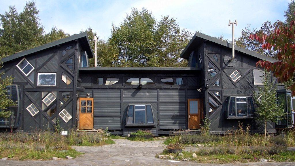 casa de materiales reciclados