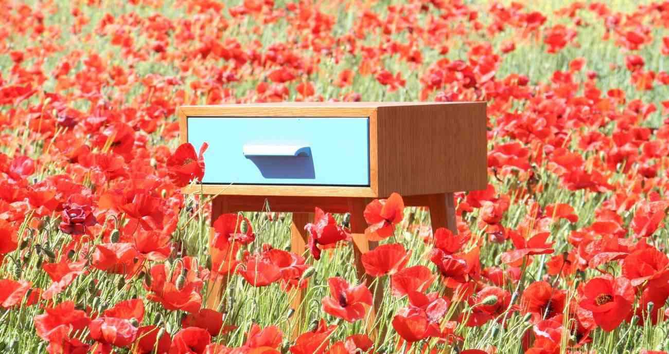 mueble de diseño - amapolas