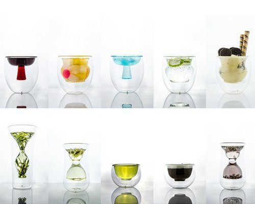 accesorios de cocina  creados en vidrio dobe