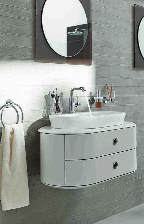 baño romántico lavabo suspendido grohe