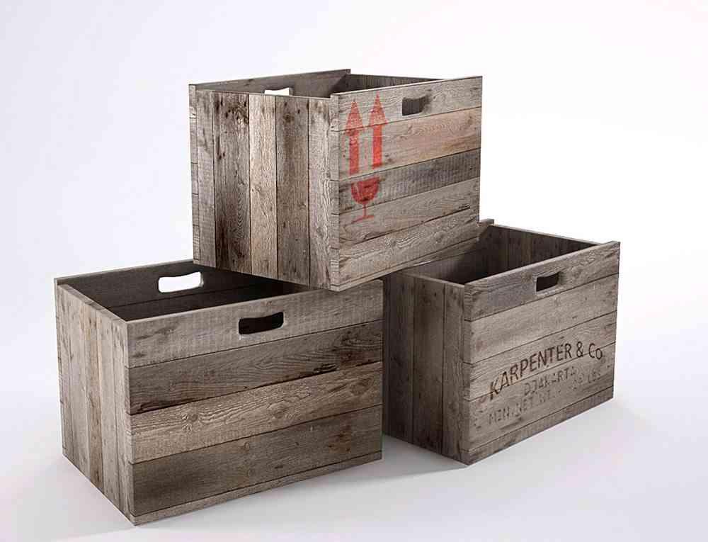 boda vintage cajas de madera