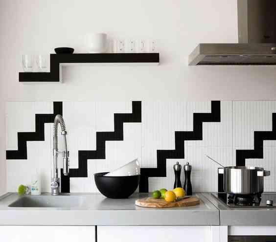 decoración de tu cocina en blanco y negro