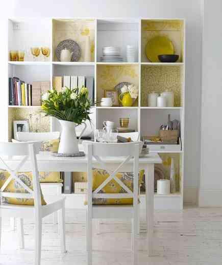 decoración de tu cocina en amarillo y blanco