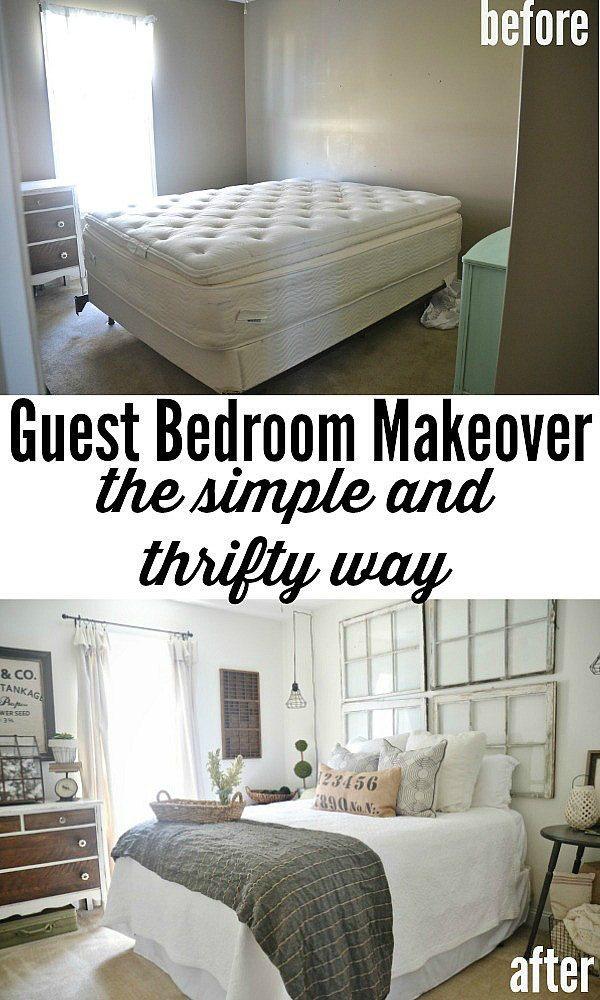 antes y despues de un dormitorio
