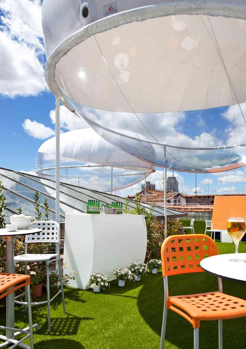 terrazas de verano - Espacio heineken burbujas de plastico