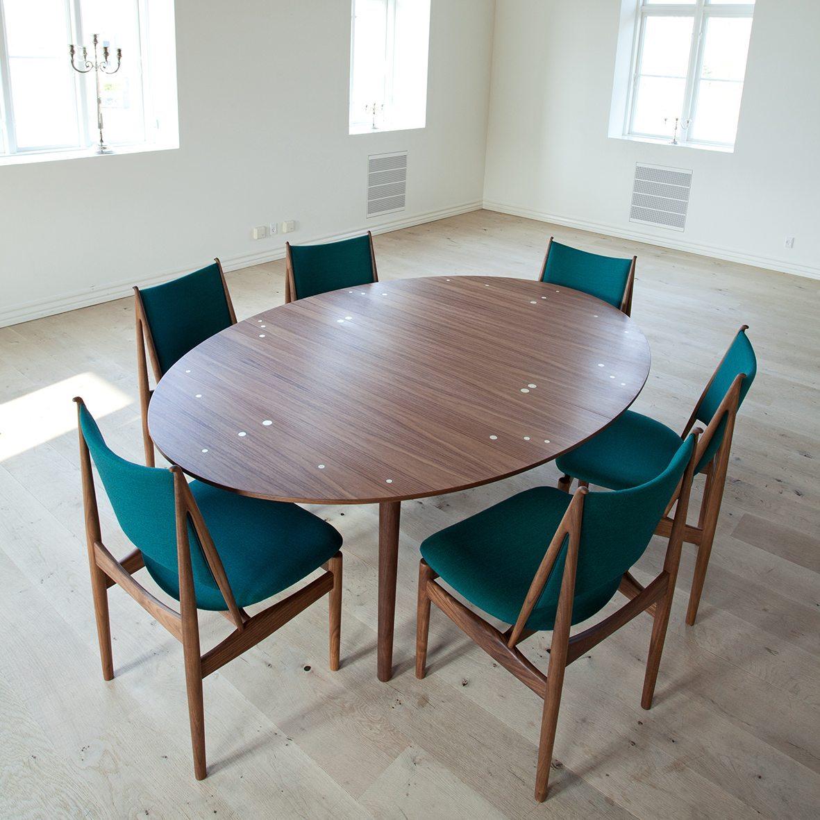 mesa oval plata